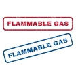 Flammable Gas Rubber Stamps vector image