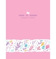 Tulip field flowers vertical template seamless vector image vector image