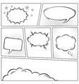 Comic speech bubbles background vector image