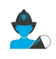 Firefighter blue icon vector image