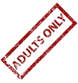 Adults only rubber stamp vector image