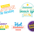 color summer hipster vintage logo icon vector image