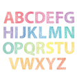 Full abc on pins vector image