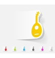 realistic design element lute vector image
