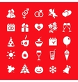 Big set of 25 white icons vector image