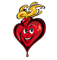 smiling heart cartoon vector image vector image