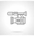 Film camera flat line design icon vector image