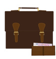 Briefcase and purse vector image