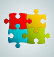 colorful puzzle pieces vector image