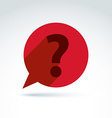 FAQ ask and answer theme interrogation red speech vector image