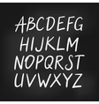 Latin english alphabet simple font vector image