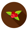 rowanberry circle icon vector image
