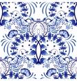 Seamless pattern based on porcelain painting gzhel vector image