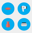 set of simple glamour icons vector image