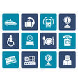 Flat airport travel and transportation icons 2 vector image vector image