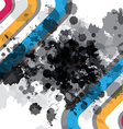 Ink splatter design vector image vector image