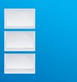 Empty blue shelves vector image vector image