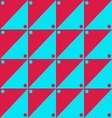 Red and blue simple pattern vector image vector image