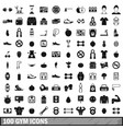 100 gym icons set in simple style vector image