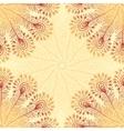 Vintage beige abstract doodle background vector image