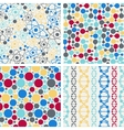 Molecular structure seamless patterns vector image