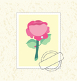 postage stamp rose vector image