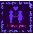 i love you postcard vector image