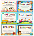 Certificates for children in primary school vector image vector image