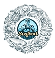 seafood or food vector image