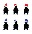 children with new year hat color vector image