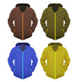 four jackets set vector image