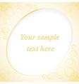 golden card EPS10 vector image