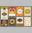 happy thanksgiving card template vector image