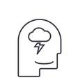 mind processmale head line icon sig vector image