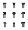 tower icons set simple style vector image