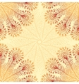 Vintage beige abstract doodle background vector image