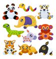 Asian toy animals vector image vector image