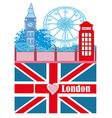 banner - i love London vector image