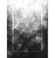Abstract background gray frame Geometric vector image vector image