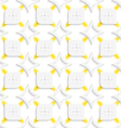 White and yellow geometrical perforated leaves and vector image vector image