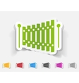 realistic design element xylophone vector image
