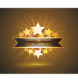 label sign with gold stars and place for your text vector image vector image