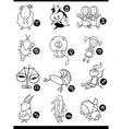 Cute horoscope zodiac signs vector image