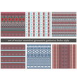 Set of Tribal Boho Seamless Patterns vector image vector image