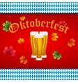 Beer at Oktoberfest Bavarian flag vector image