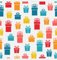 festive bright gift box seamless pattern vector image
