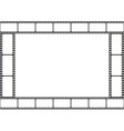 Film strip template border movie theater frame vector image