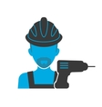 Maintenance mechanic blue icon vector image