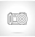 Photo camera icon flat line design icon vector image