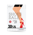 poster of woman shoes sale with special offer vector image